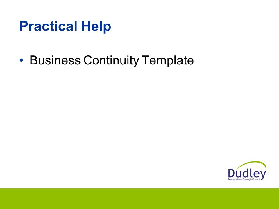 Practical Help Business Continuity Template