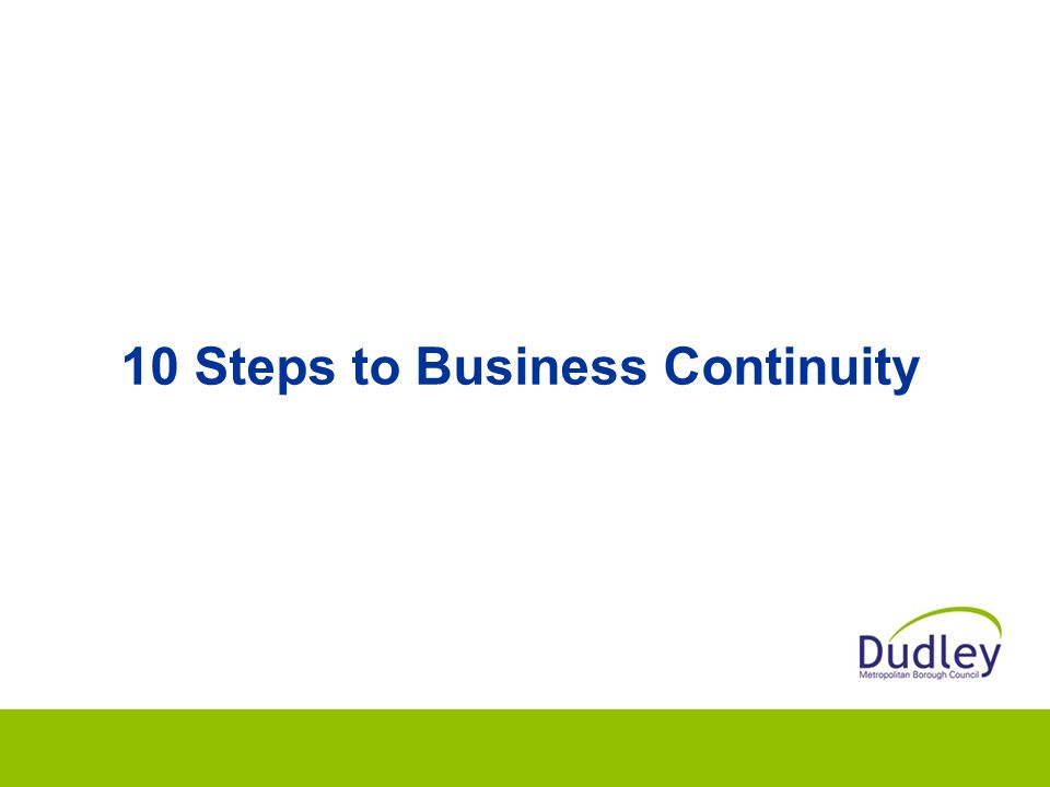 10 Steps to Business Continuity