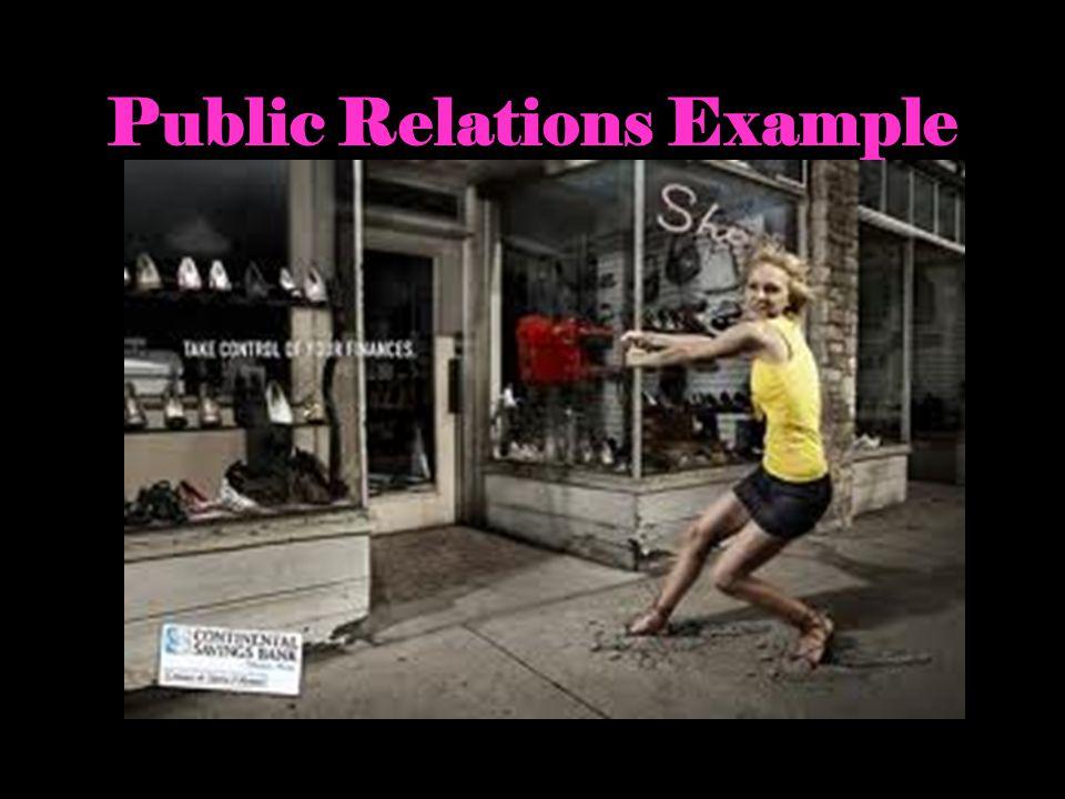 Public Relations Example