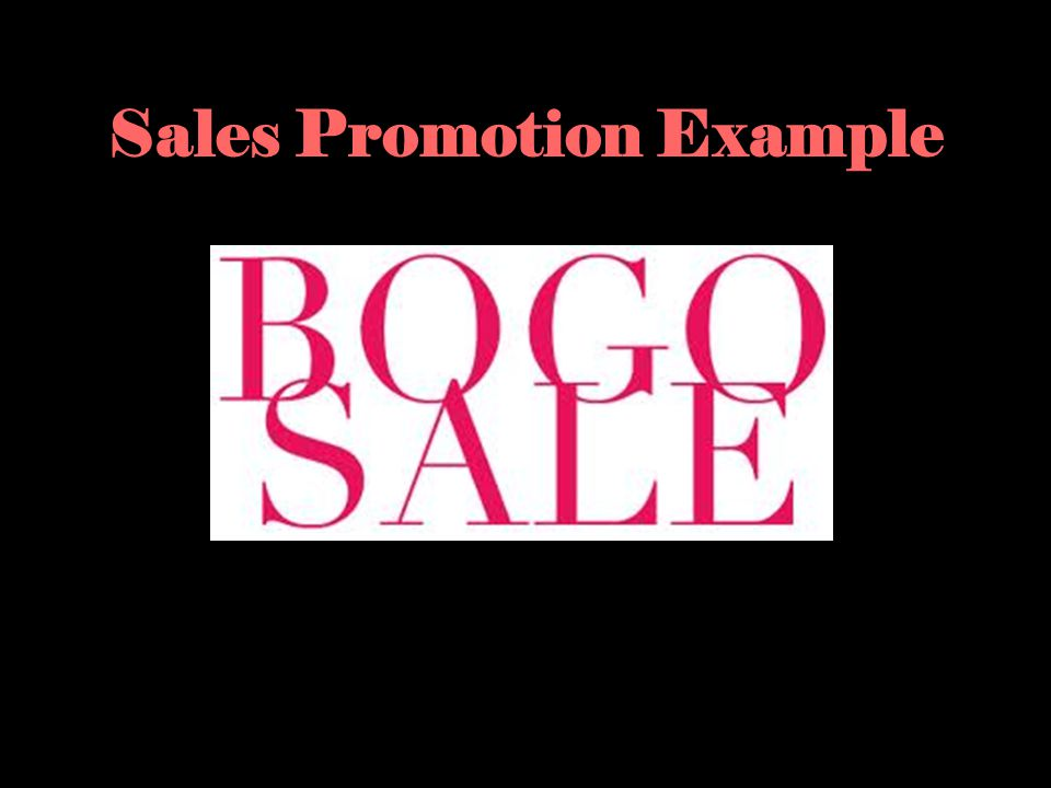 Sales Promotion Example