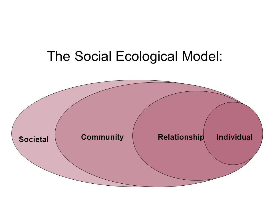 The Social Ecological Model: Societal CommunityRelationshipIndividual