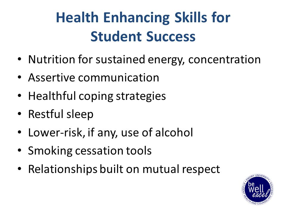 Our Mission Health Education and Promotion at EUSHCS contributes to success in and out of the classroom by encouraging students to take responsibility for their lifelong wellness.