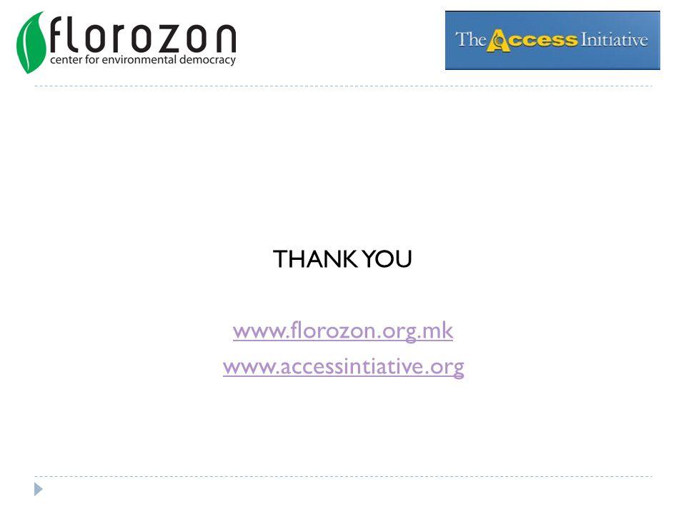 THANK YOU www.florozon.org.mk www.accessintiative.org