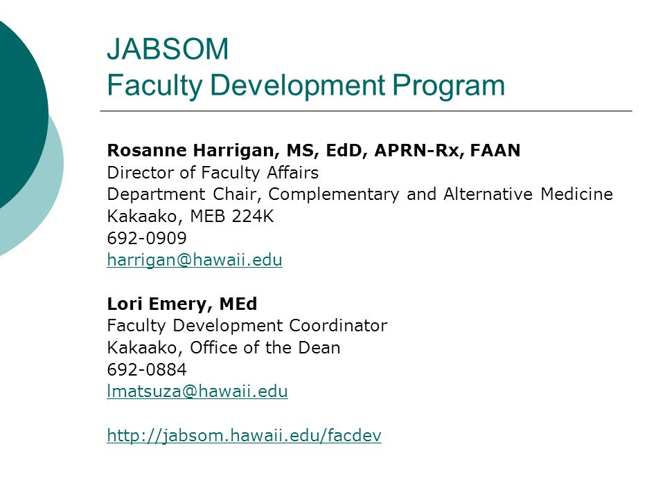 Introduction to Promotion/Tenure at UH-JABSOM UH Manoa Process For UH compensated faculty only Multi-level review process Timetable: Oct-June Requires assembly of a dossier