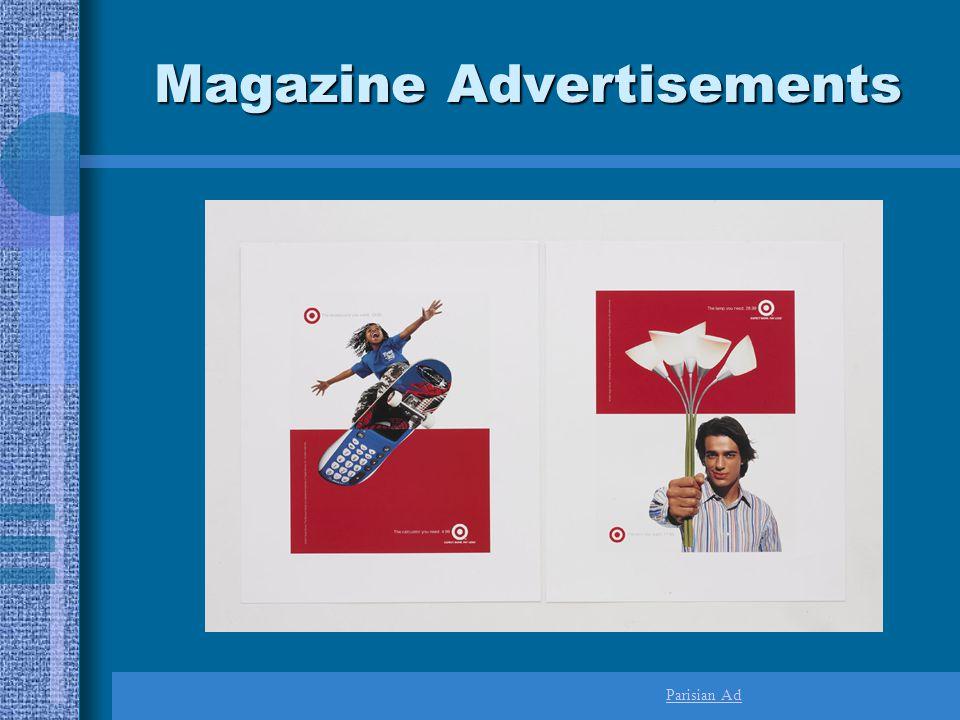 Magazine Advertisements Parisian Ad