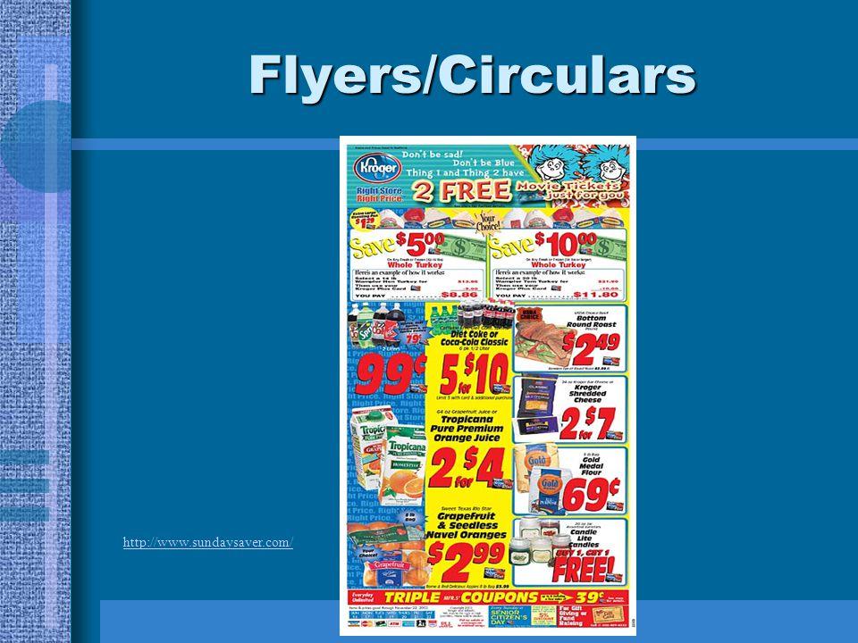 Flyers/Circulars http://www.sundaysaver.com/