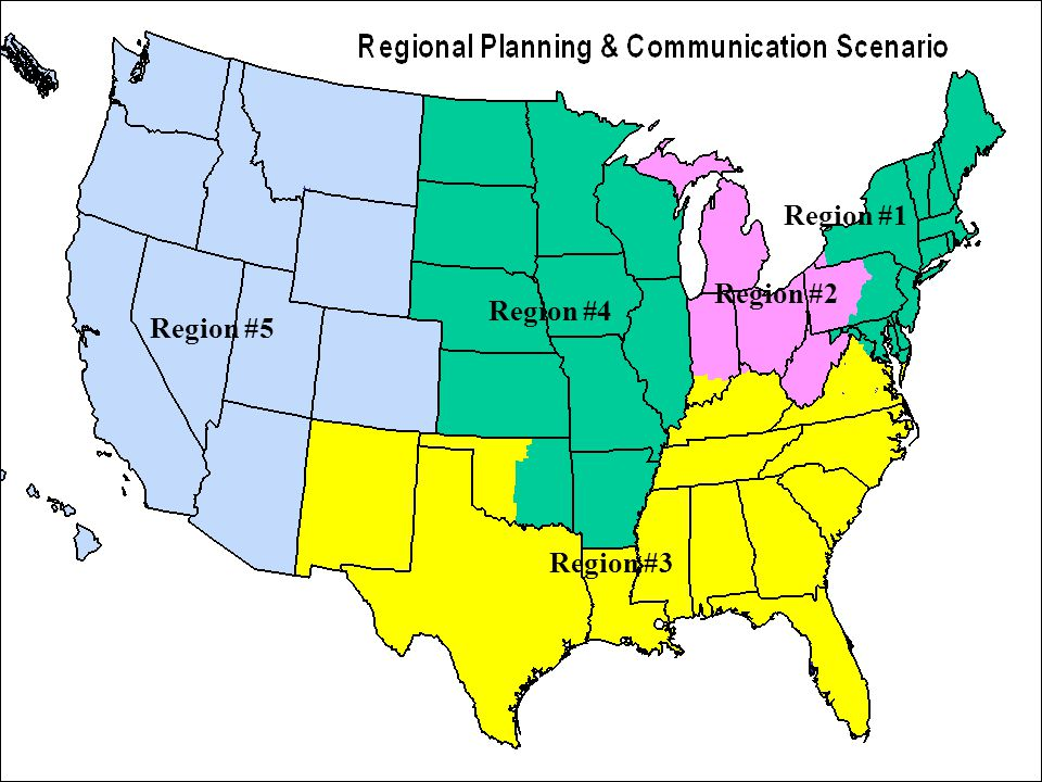 Region #1 Region #2 Region #3 Region #4 Region #5