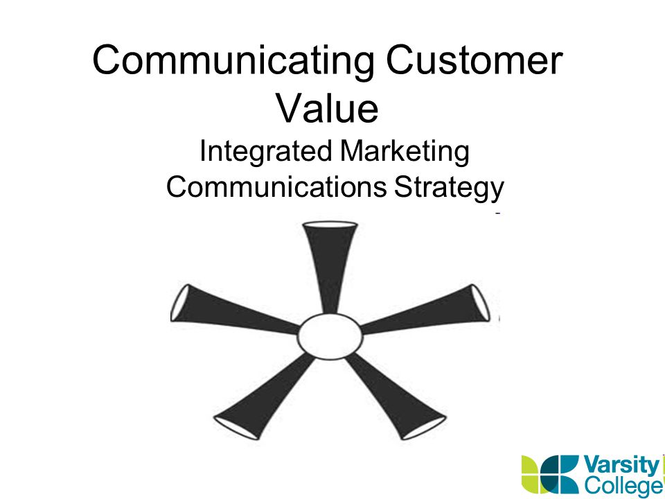 Communicating Customer Value Integrated Marketing Communications Strategy