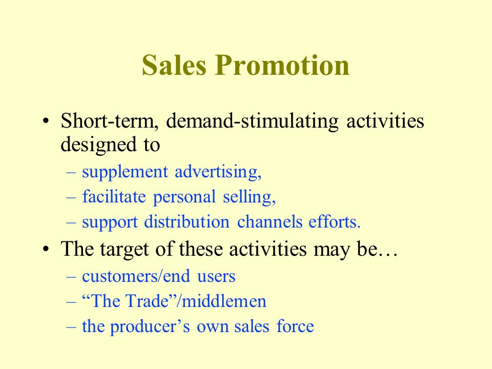 Most Common Objectives For Sales Programs