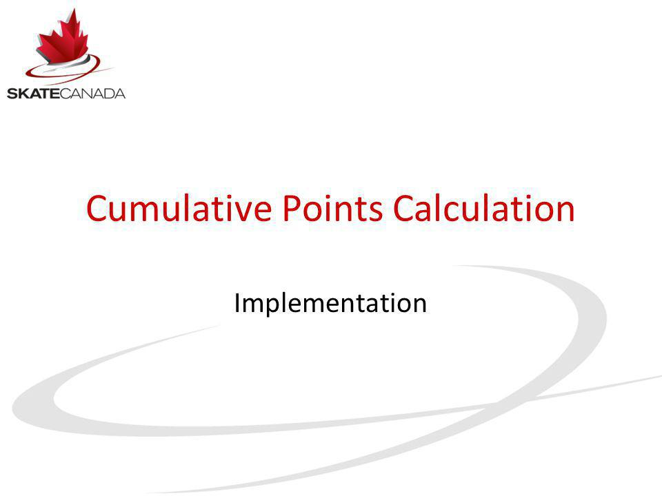 Cumulative Points Calculation Implementation