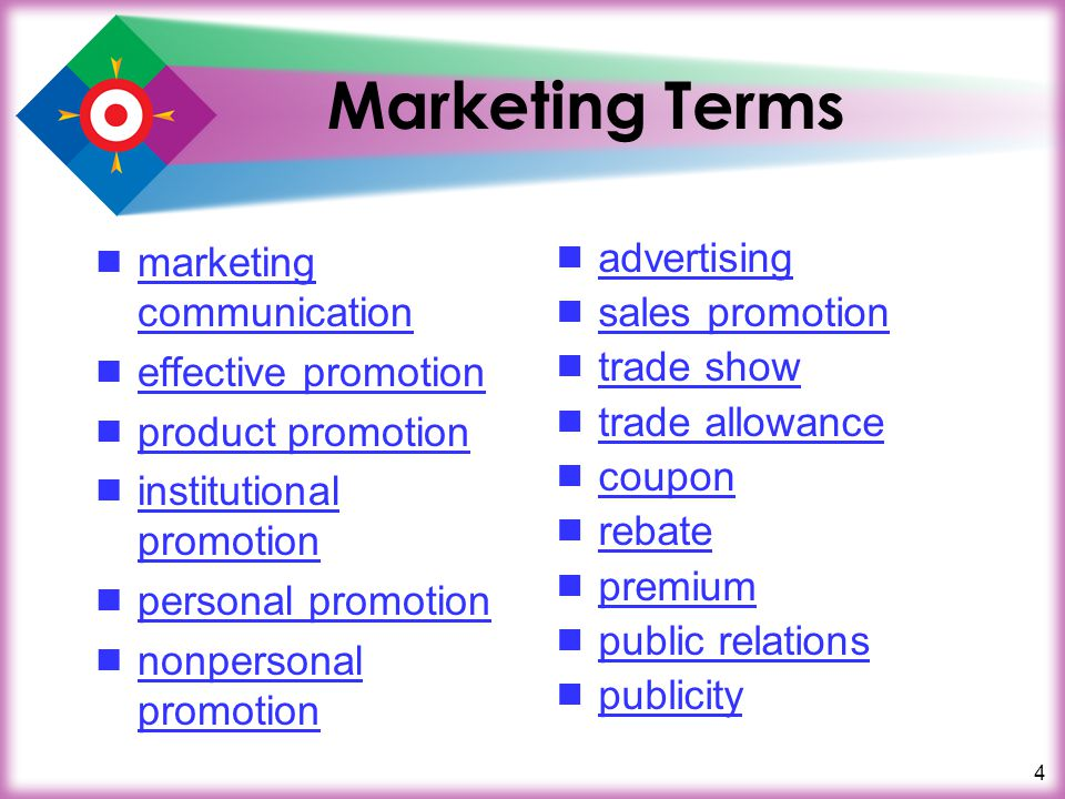 25 Review What is the goal of promotion.
