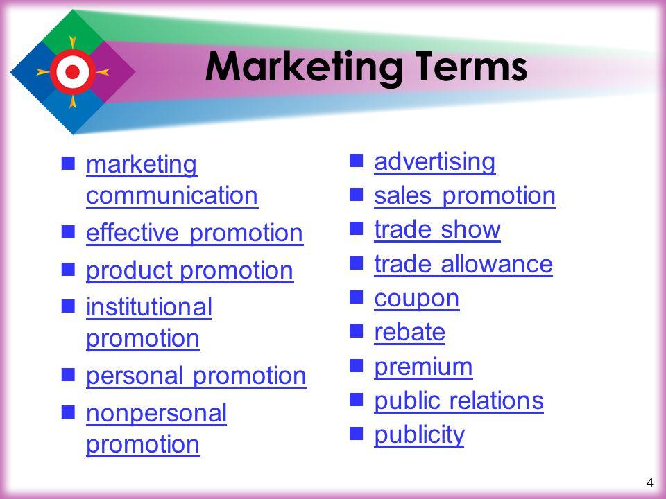 4 Marketing Terms marketing communication marketing communication effective promotion product promotion institutional promotion institutional promotio