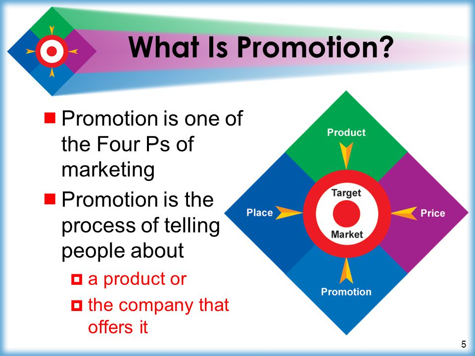 6 Promotion Is Marketing Communication Promotion is communication from an organization to –its customers –its potential customers –the public Marketing communication is another term for promotion Marketing communication 1.