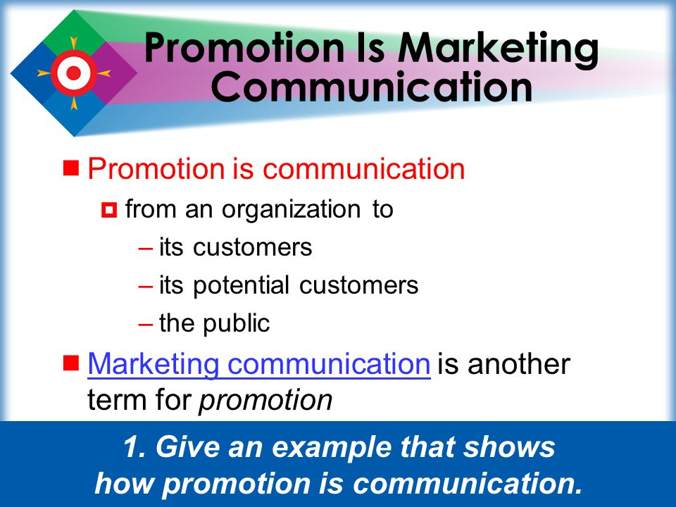27 Glossary institutional promotion.Communication that focuses on the image of the organization.