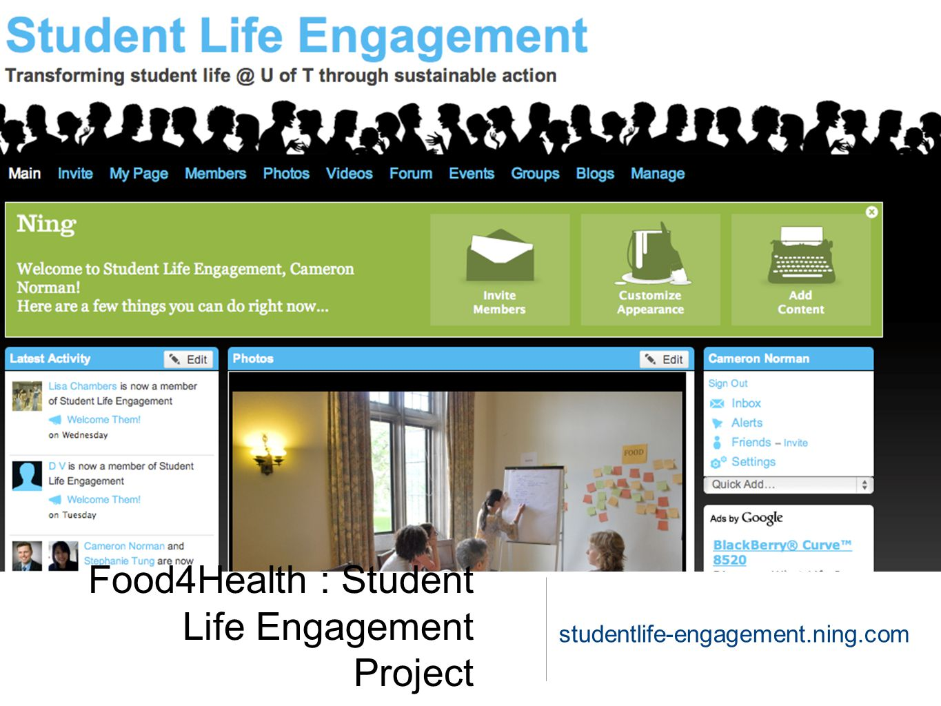 Food4Health : Student Life Engagement Project studentlife-engagement.ning.com