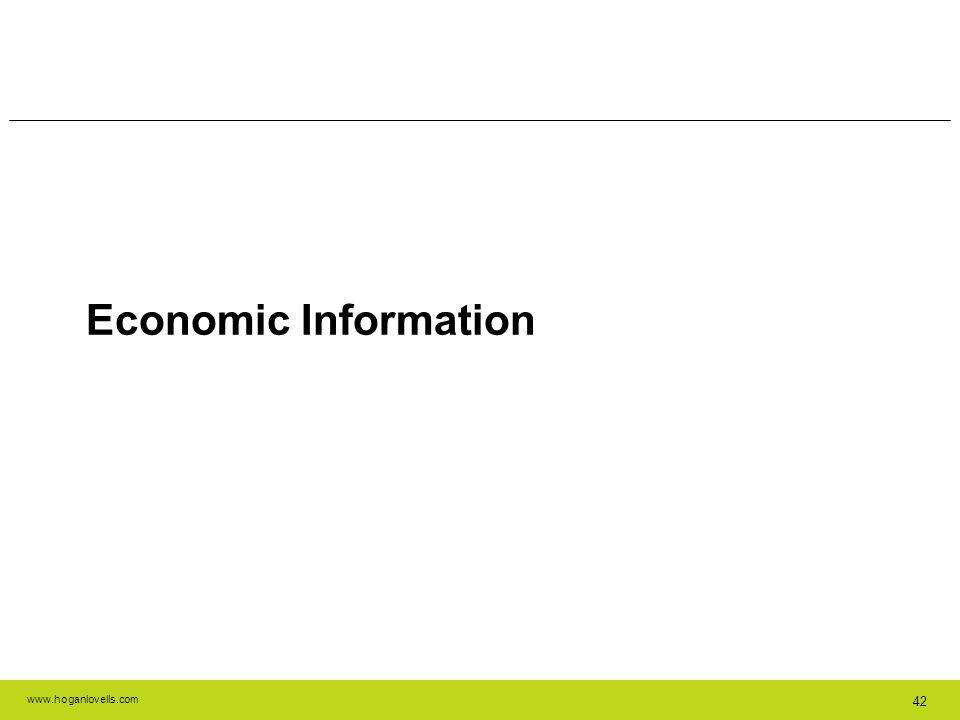 www.hoganlovells.com 42 Economic Information