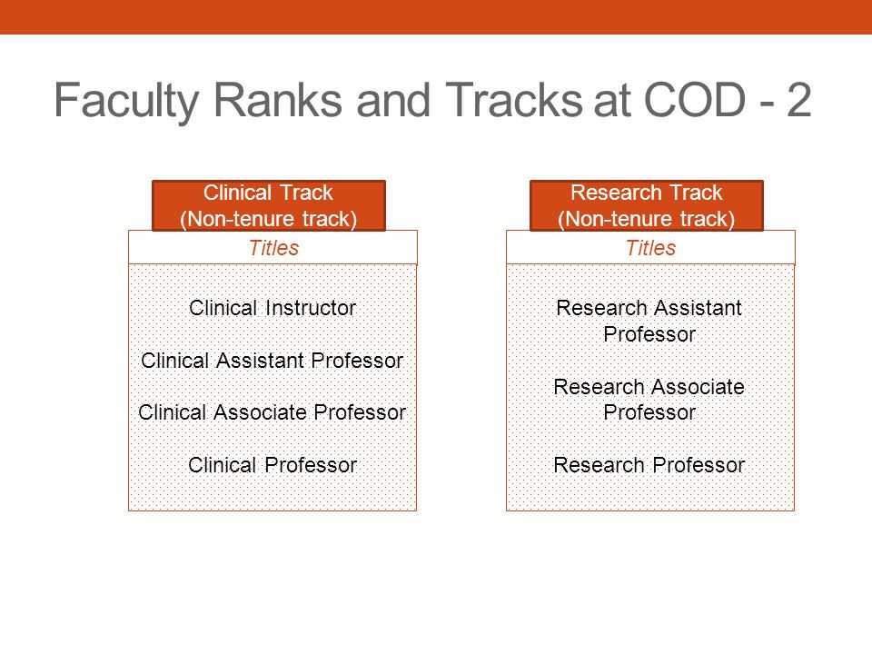 ACADEMIC TRACK – Clinical Educational Subtrack FROM THE GUIDELINES Professor: Faculty at this rank should have demonstrated significant originality in their teaching and should be engaged in service and scholarly activities.