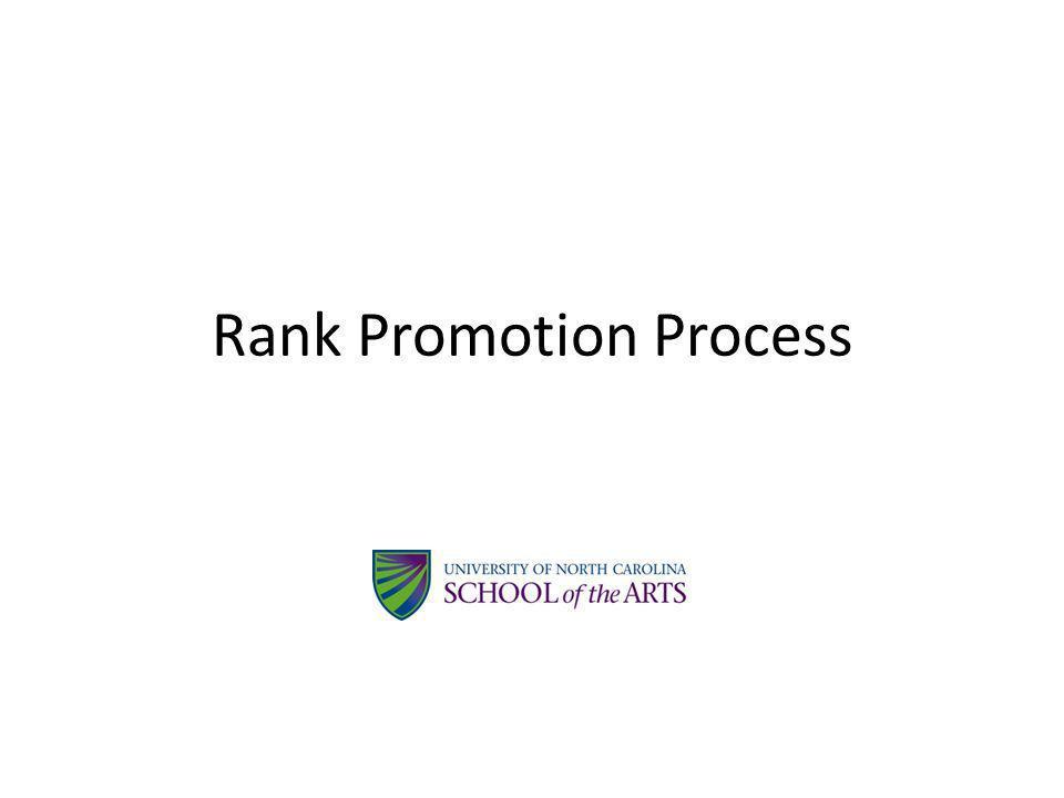 Rank Promotion Process