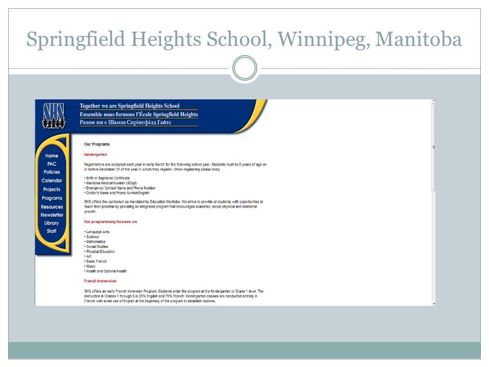 Springfield Heights School, Winnipeg, Manitoba