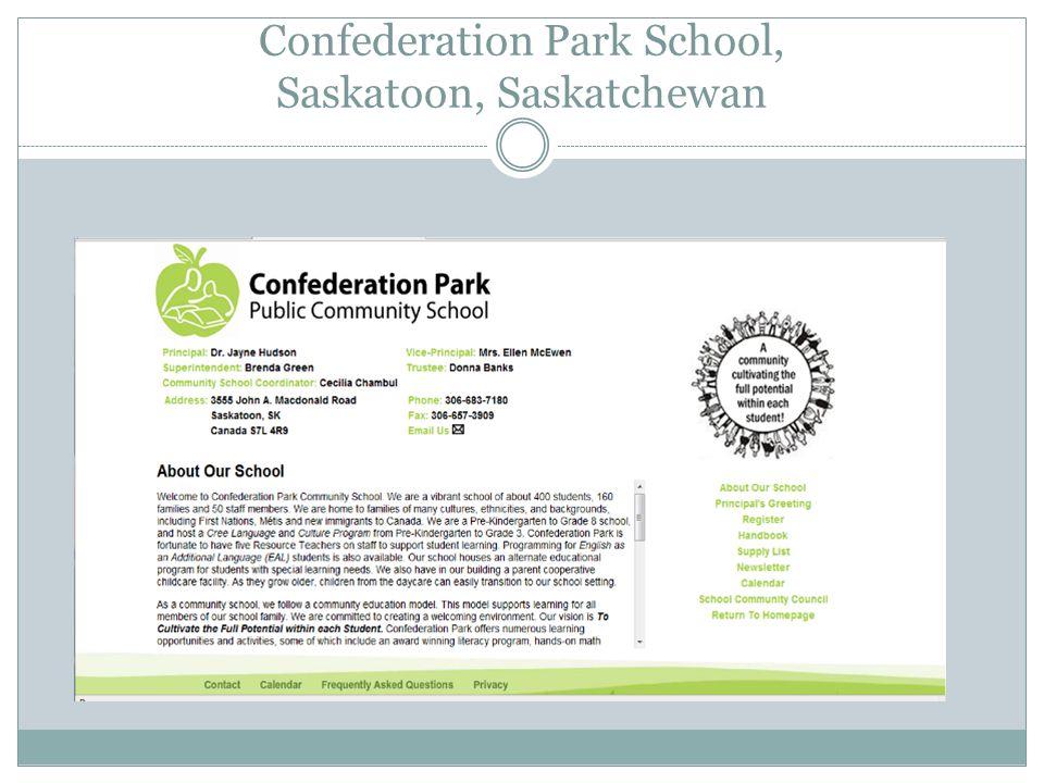Confederation Park School, Saskatoon, Saskatchewan