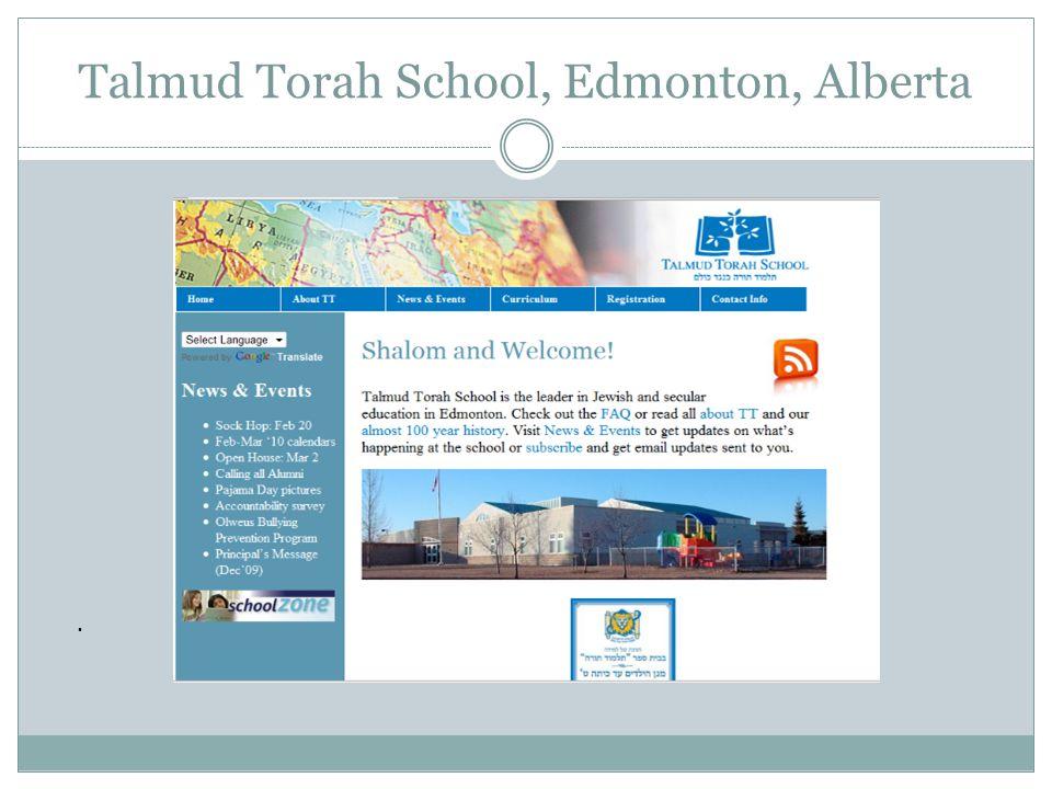 . Talmud Torah School, Edmonton, Alberta