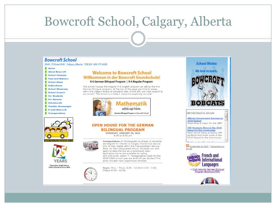 Bowcroft School, Calgary, Alberta