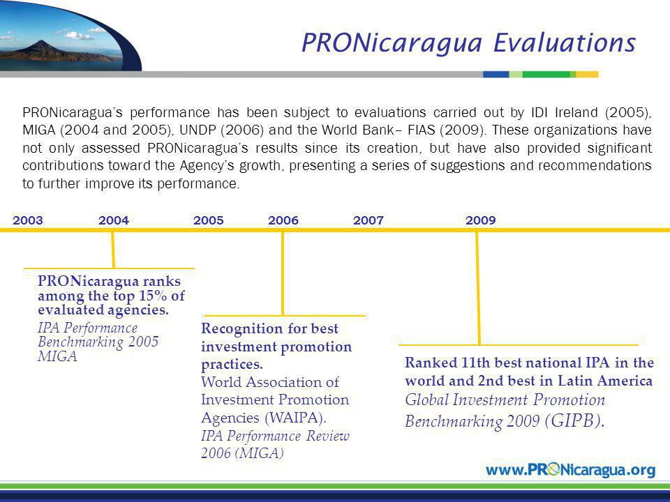 Recognition for best investment promotion practices. World Association of Investment Promotion Agencies (WAIPA). IPA Performance Review 2006 (MIGA) 20