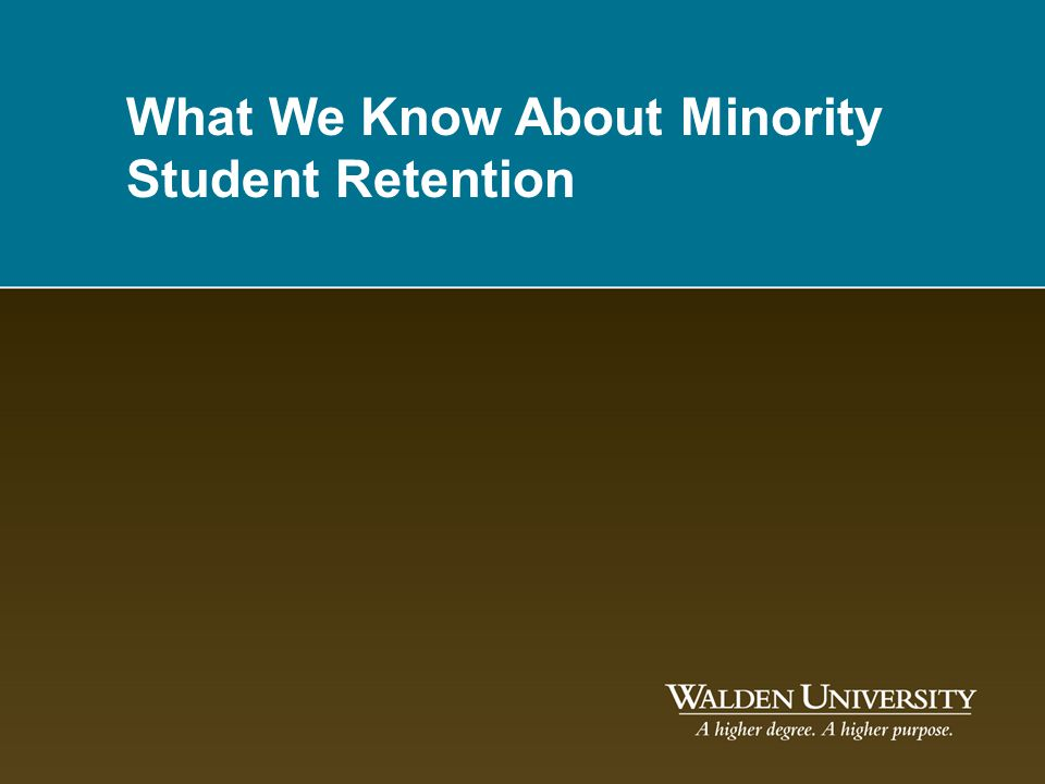 What We Know About Minority Student Retention