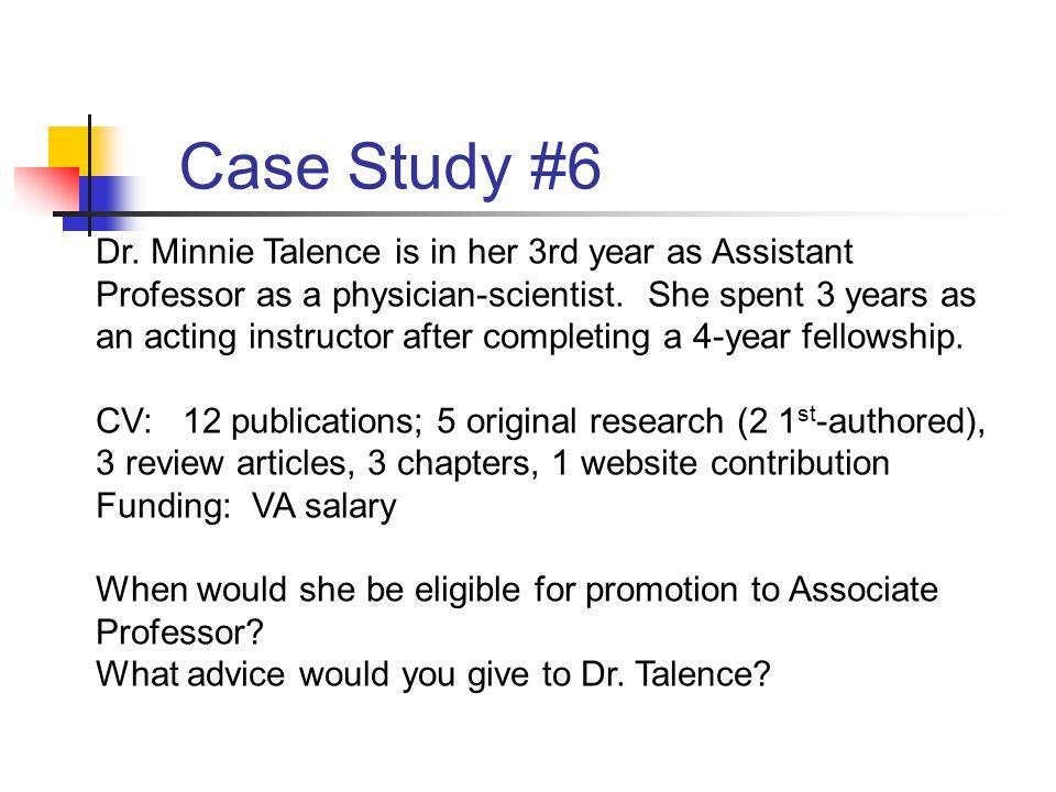 Case Study #6 Dr.