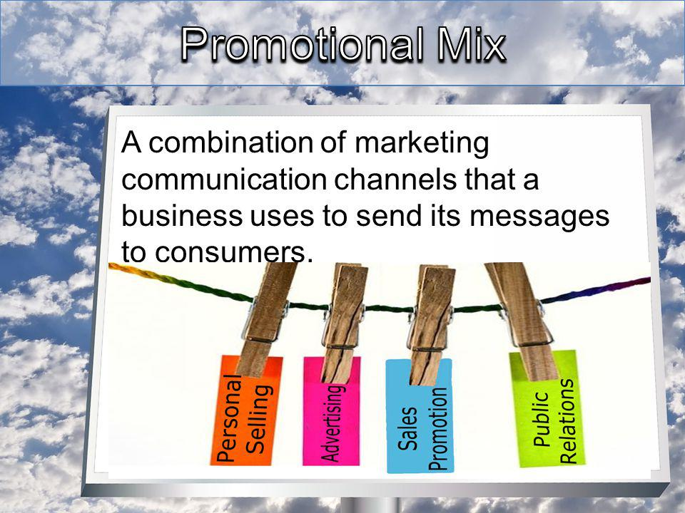 A combination of marketing communication channels that a business uses to send its messages to consumers.
