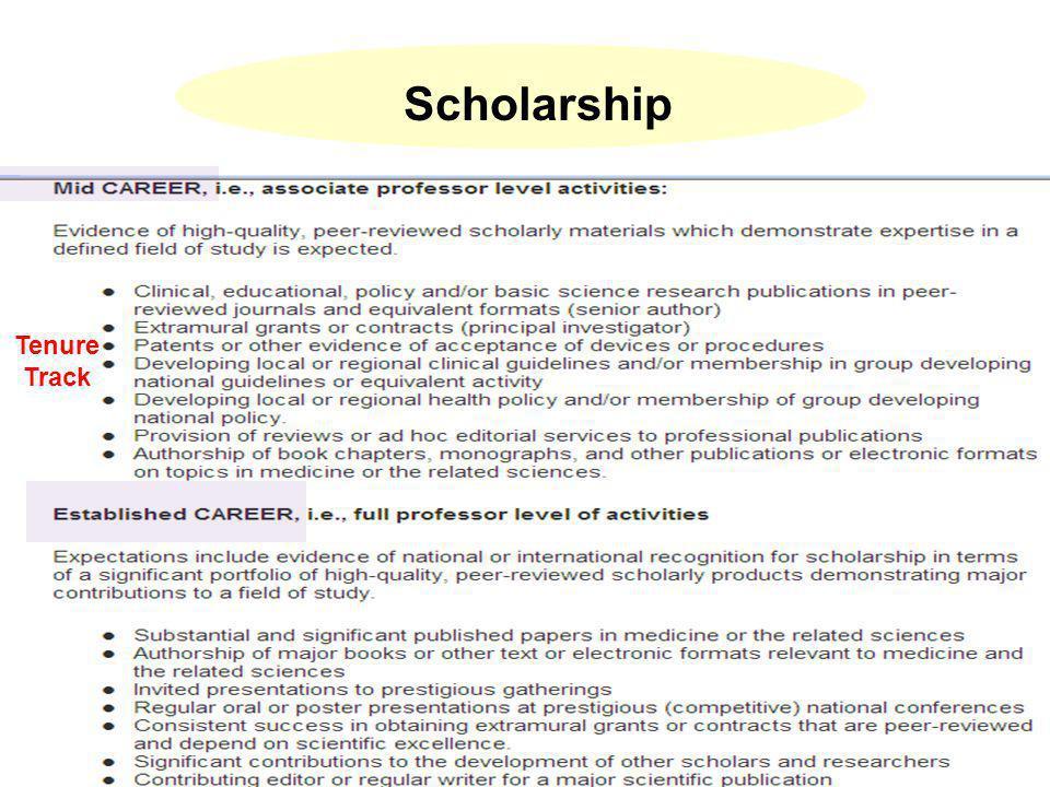 Scholarship Tenure Track