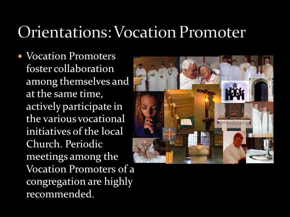 Vocation Promoters foster collaboration among themselves and at the same time, actively participate in the various vocational initiatives of the local