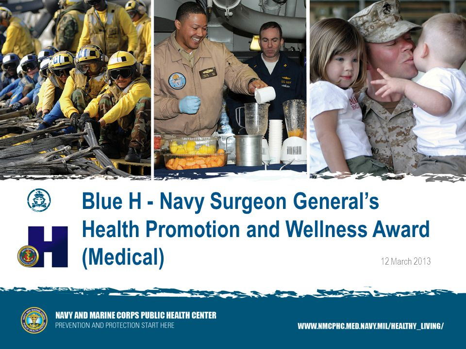 Blue H - Navy Surgeon Generals Health Promotion and Wellness Award (Medical) 12 March 2013