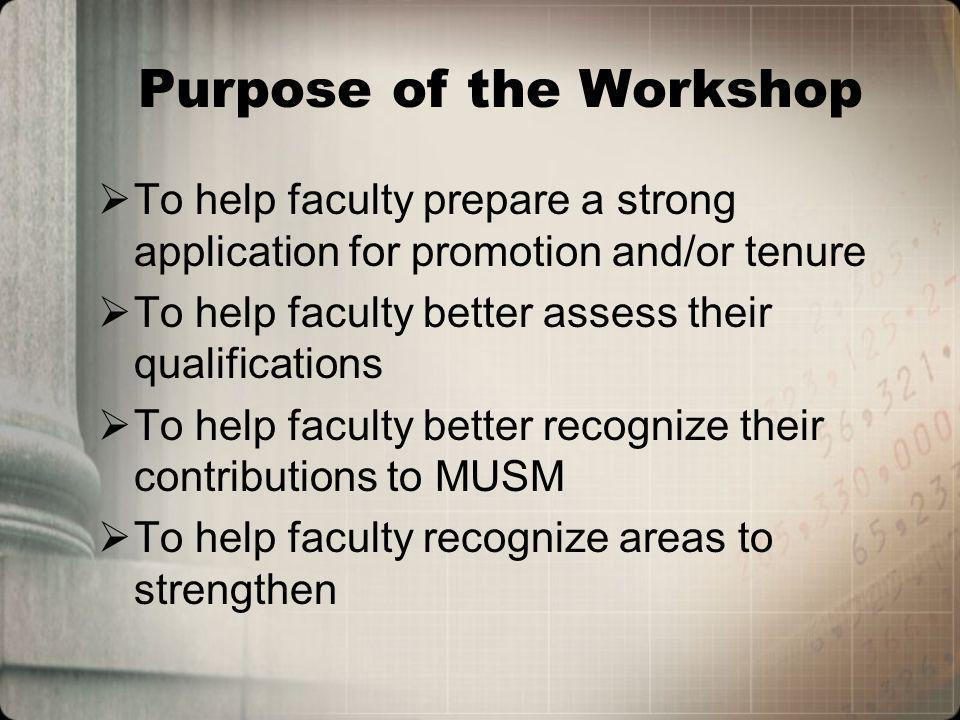 Five Faculty TRACKS Academic Research Clinical Community Library Four Ranks (Plus One) Instructor Assistant Professor Associate Professor Professor Plus Emeritus
