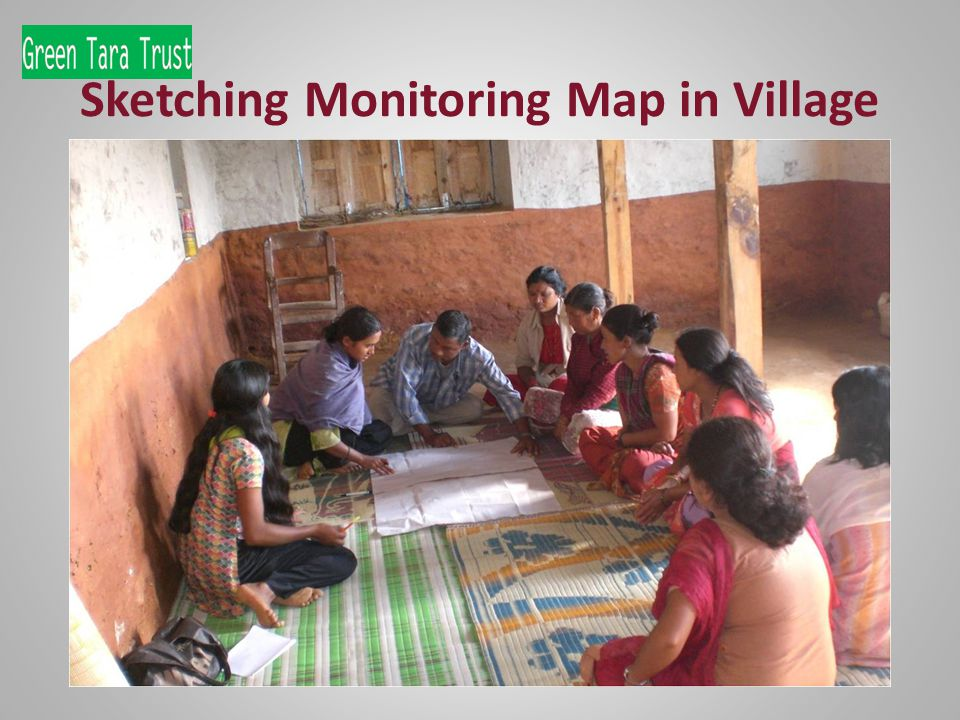 Sketching Monitoring Map in Village