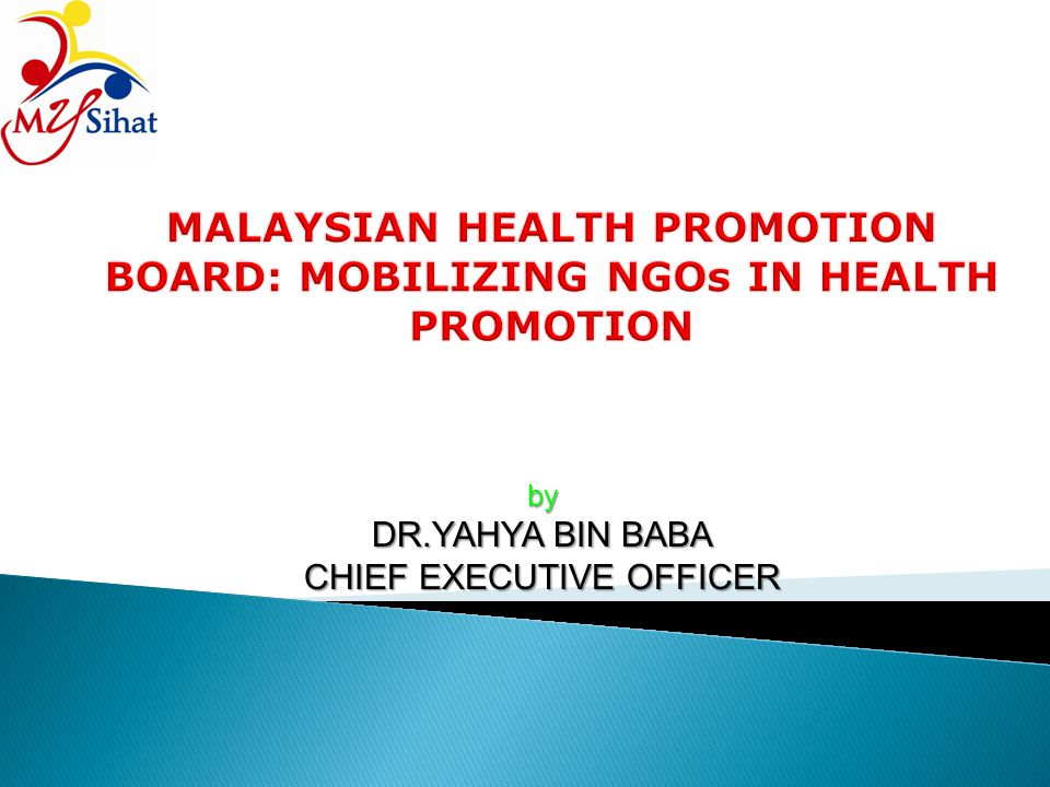by DR.YAHYA BIN BABA CHIEF EXECUTIVE OFFICER
