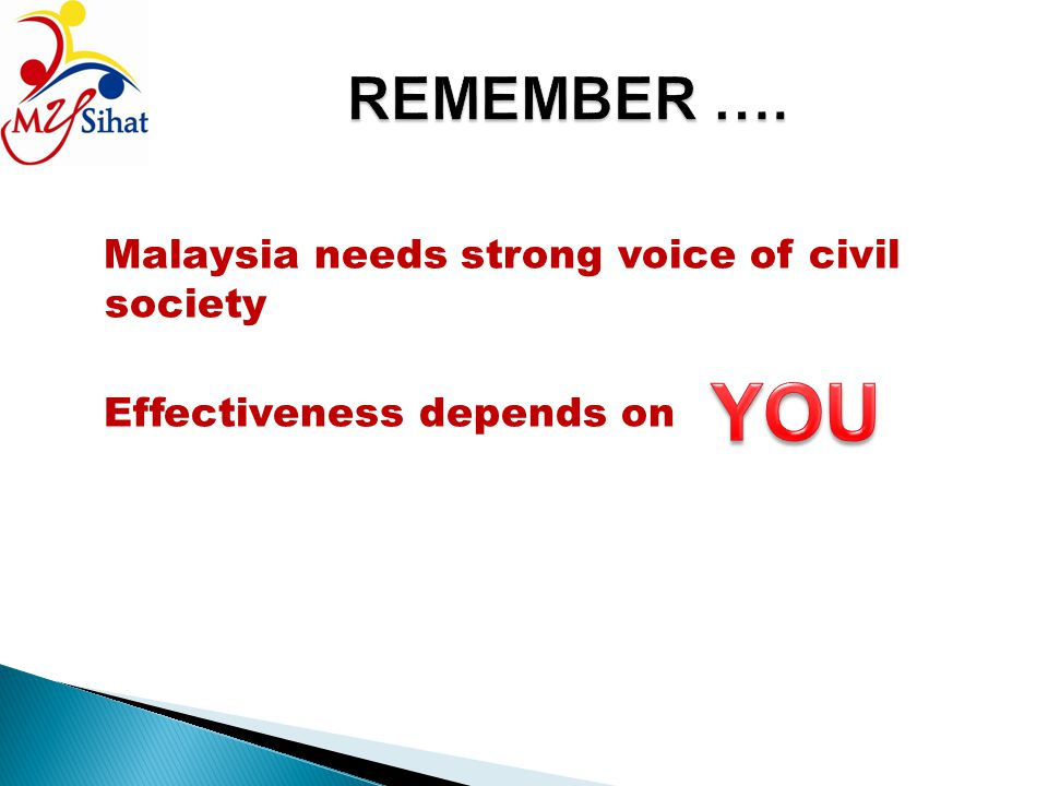 Malaysia needs strong voice of civil society Effectiveness depends on