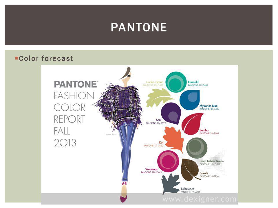 PANTONE Color forecast