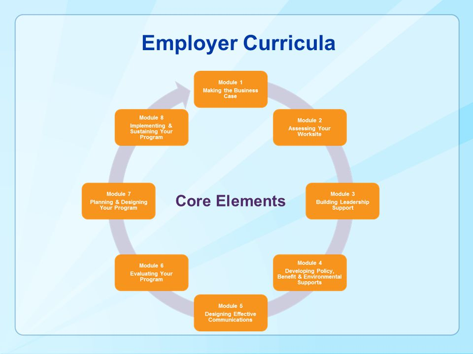 Employer Curricula Core Elements