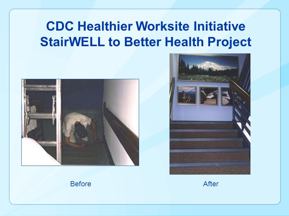 CDC Healthier Worksite Initiative StairWELL to Better Health Project BeforeAfter
