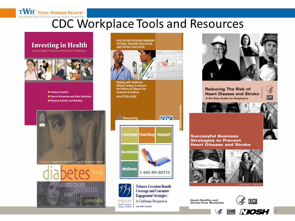 28 CDC Workplace Tools and Resources