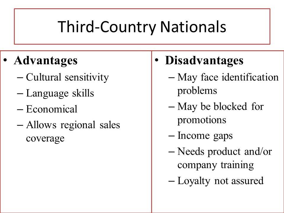 Copyright 2013, Pearson Education Third-Country Nationals Advantages – Cultural sensitivity – Language skills – Economical – Allows regional sales cov