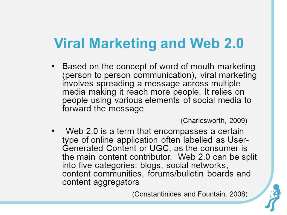 Based on the concept of word of mouth marketing (person to person communication), viral marketing involves spreading a message across multiple media m