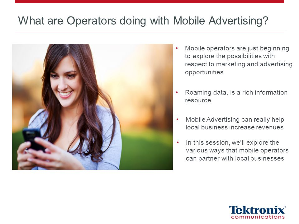 What are Operators doing with Mobile Advertising.