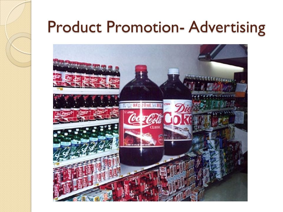 Product Promotion- Advertising