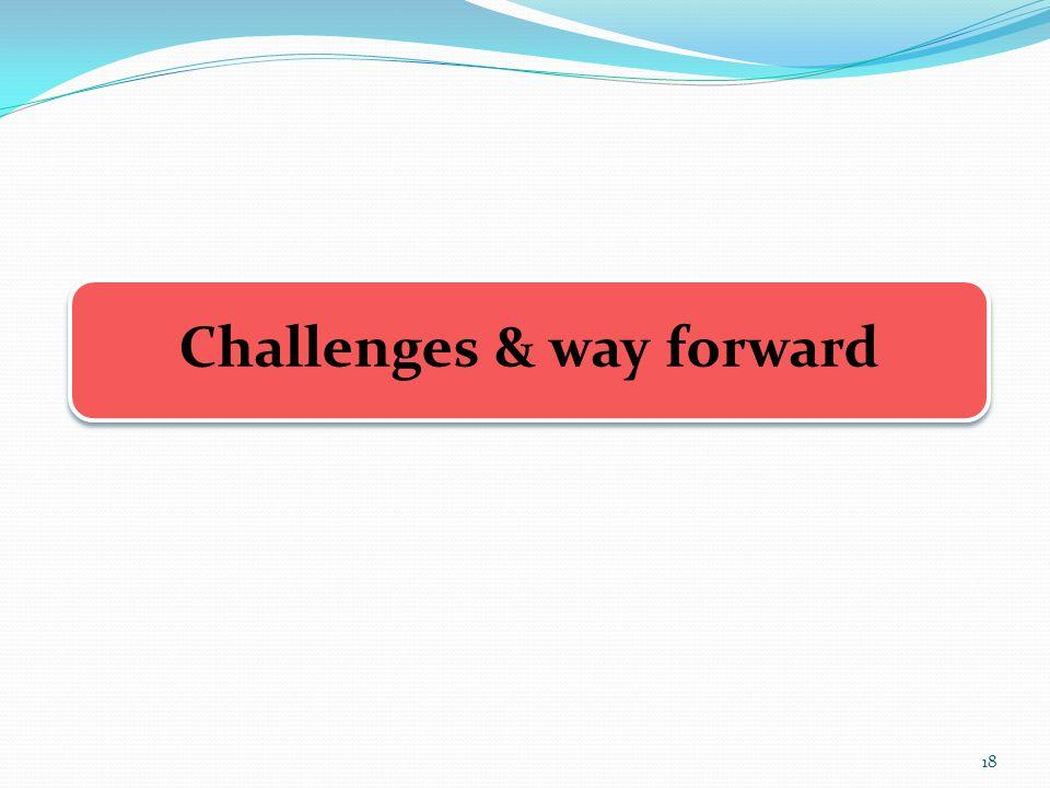 Challenges & way forward 18