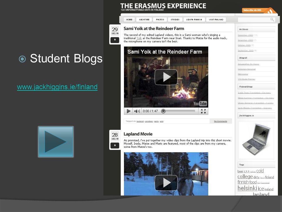 Student Blogs www.jackhiggins.ie/finland