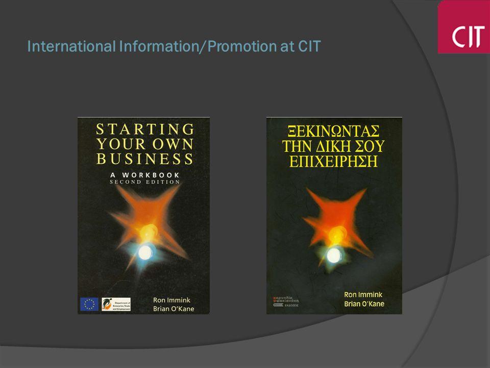 International Information/Promotion at CIT