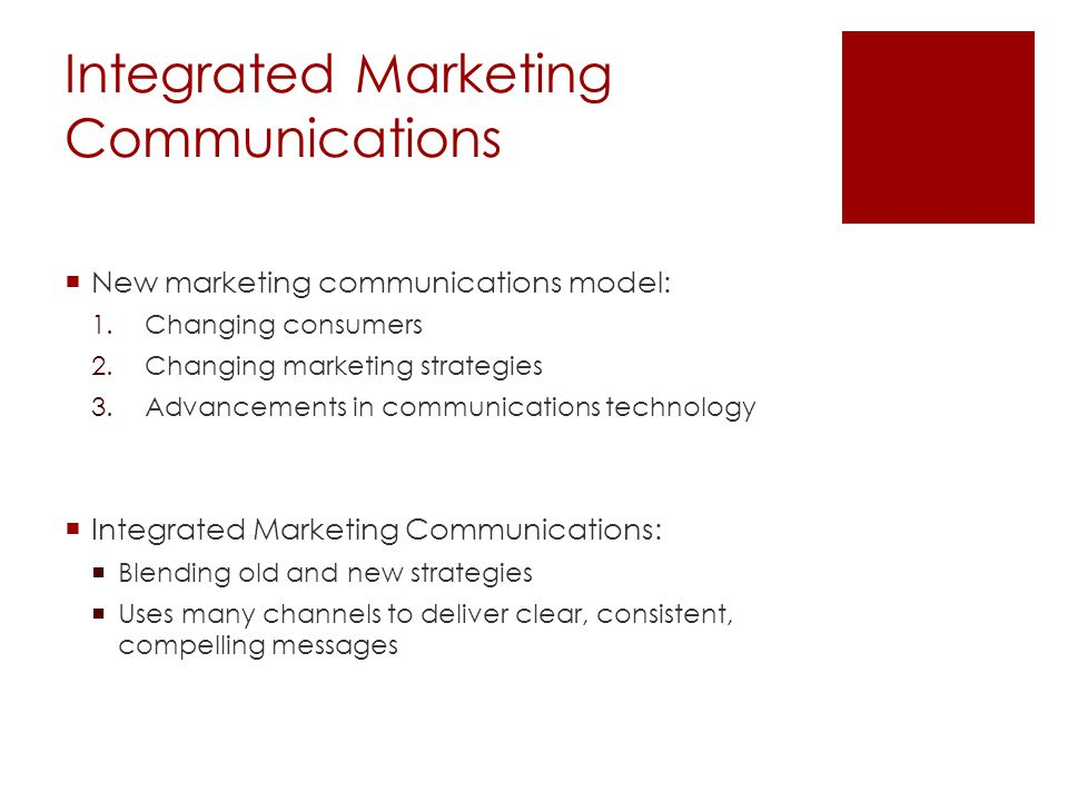 Promotion Mix Cont… Public relations: Build relationships and a corporate image Direct marketing: Builds customer relationships Less public Immediate