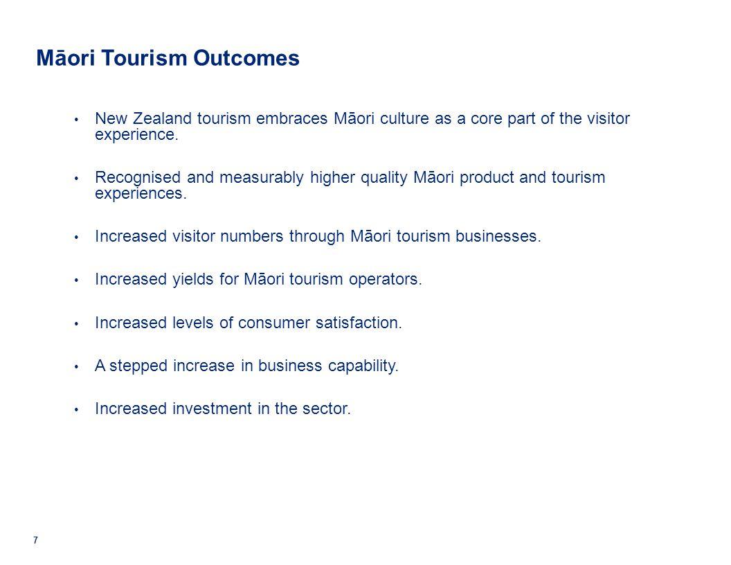 © 2011 Deloitte. A member of Deloitte Touche Tohmatsu Limited. 7 Māori Tourism Outcomes New Zealand tourism embraces Māori culture as a core part of t